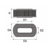 Sportovní filtr Green RENAULT R21 1,7L TL/GTL/GTS/RS/NEVADA rok výroby 86-88