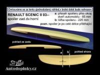 Zadní spoiler kšilt nad okno Renault Megane Scenic II -- rok výroby 2002-